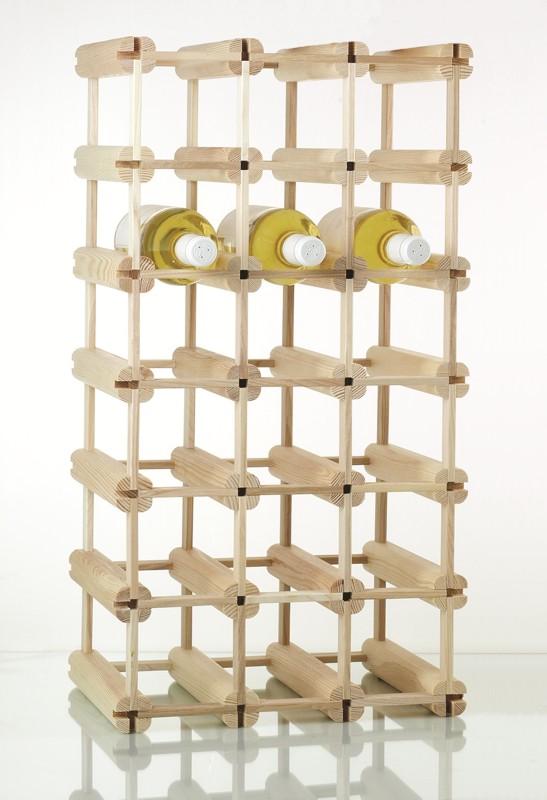 Weinregal Holz Flaschenregal für 24 Flaschen (ohne Flaschen)
