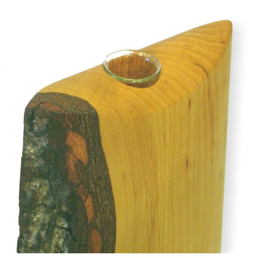Vase aus holz mit rinde klein blumenvase holzvase for Kleine schreibtische aus holz