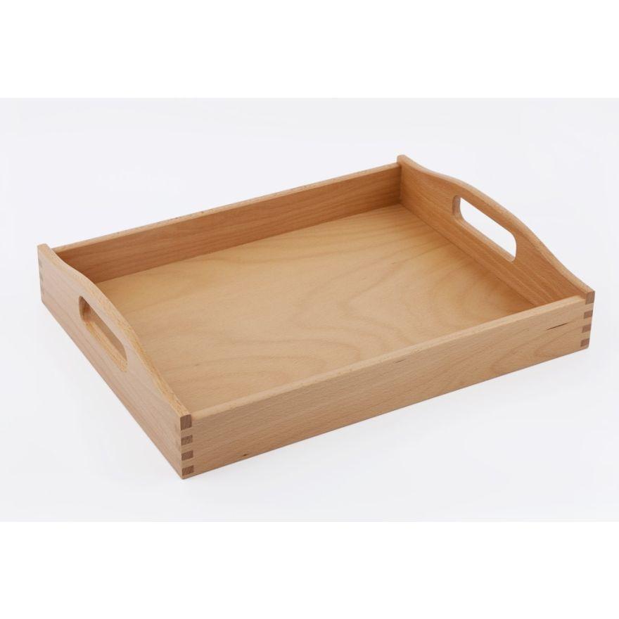 Holztablett Buche Tablett Holz Geolt 44x34cm Serviertablett