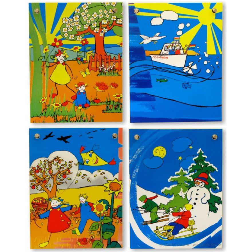 Dauerkalender ENGLISCH aus Holz Kinder Kalender, wertprodukte