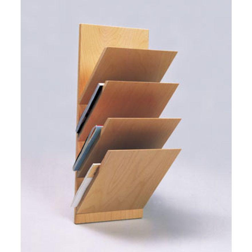 zeitschriftenhalter 4 fach holz wandzeitschriftenhalter zeitungshalter. Black Bedroom Furniture Sets. Home Design Ideas