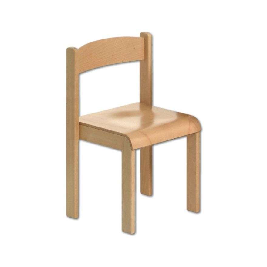 1 Kinderstuhl Holz Stapelstuhl Kindergartenstuhl ohne