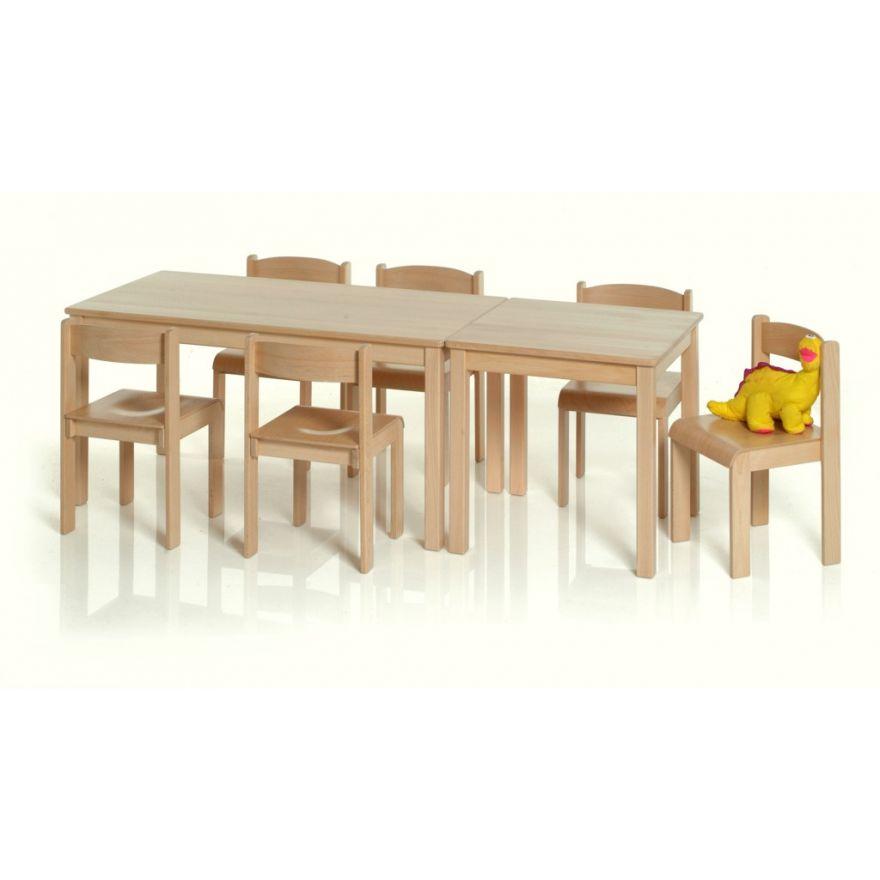 Kindertisch holz  1 Kindertisch Holz rechteckig Buche (ohne Stühle u. Deko ...