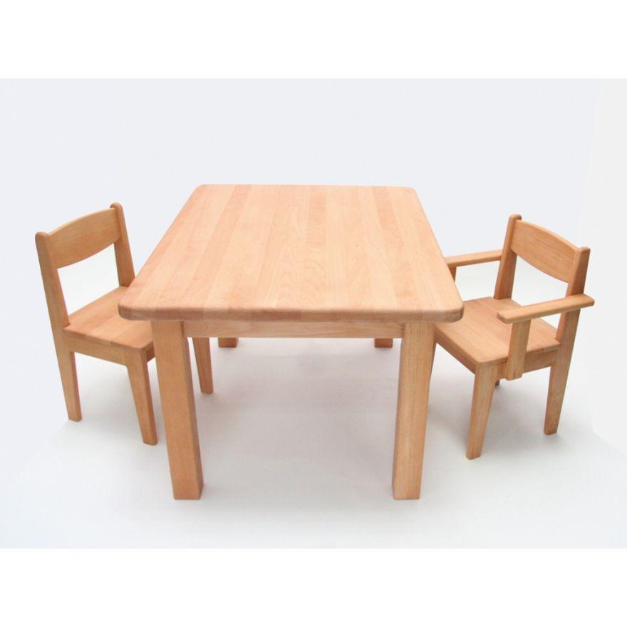 Kindertisch Holz Buche Massiv Geolt Hohe 49 Cm Kleinkind Wertprodukte