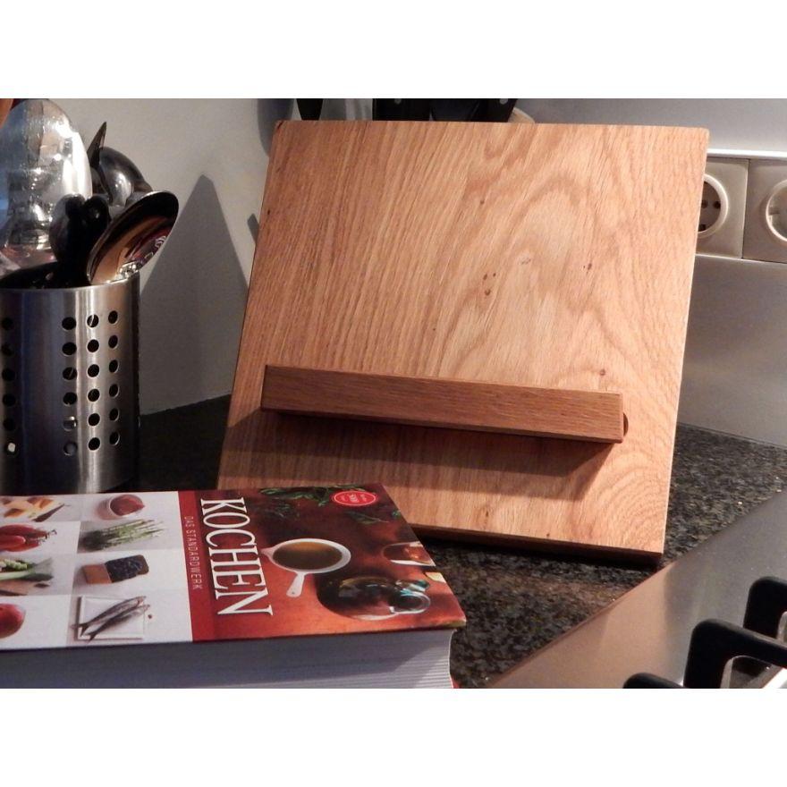 kochbuchst nder kochbuchhalter holz massiv eiche buchst tze wertprodukte. Black Bedroom Furniture Sets. Home Design Ideas