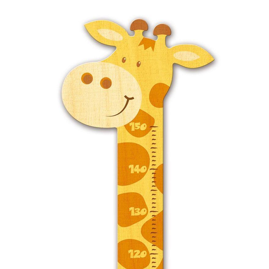 messlatte kind giraffe f r kinder aus holz kinderzimmer wertprodukte. Black Bedroom Furniture Sets. Home Design Ideas