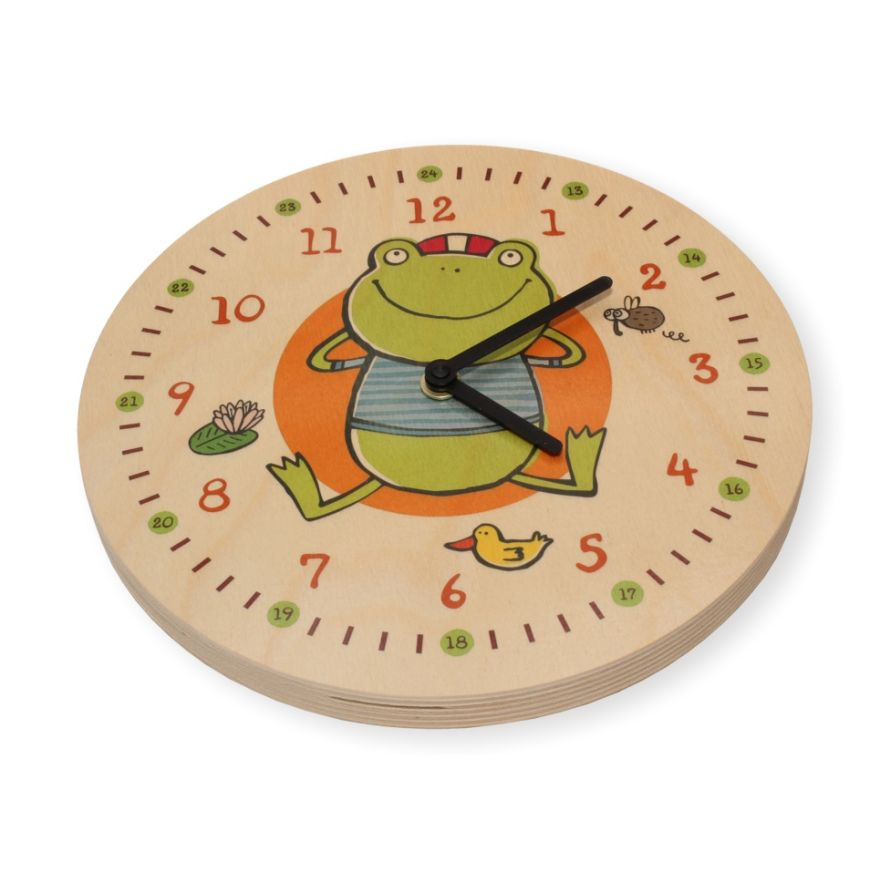 Wanduhr Kinder Frosch Holz Uhr Kinderzimmer Kinderuhr, wertprodukte
