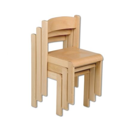 1 kinderstuhl holz stapelstuhl kindergartenstuhl ohne tisch u deko wertprodukte. Black Bedroom Furniture Sets. Home Design Ideas