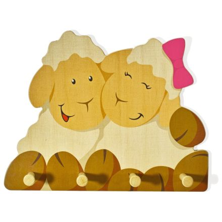 Garderobe Kinder Schafe 4 Haken Kindergarderobe Aus Holz Wertprodukte