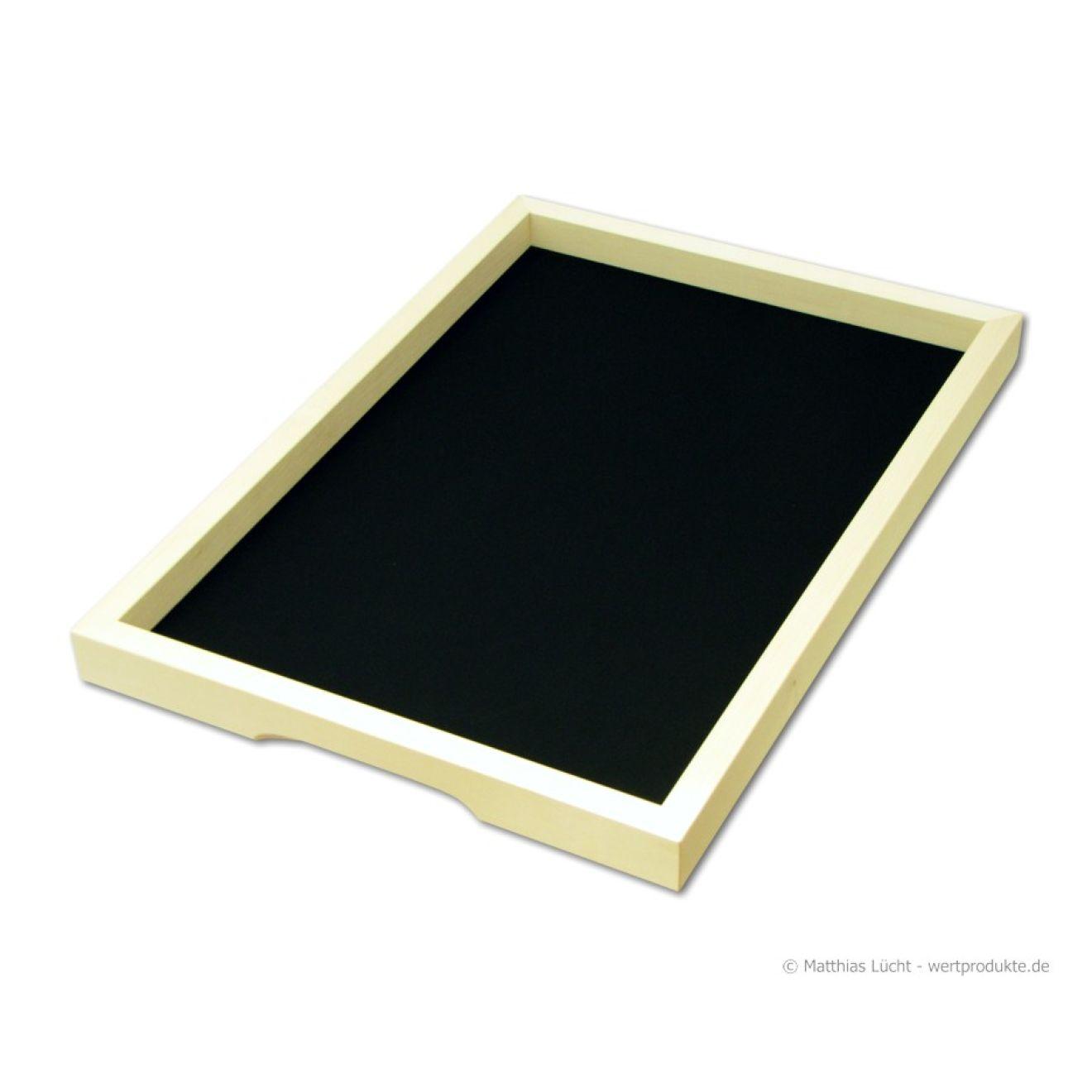 tablett l schwarz rutschfest eckig aus holz serviertablett anti rutsch wertprodukte. Black Bedroom Furniture Sets. Home Design Ideas