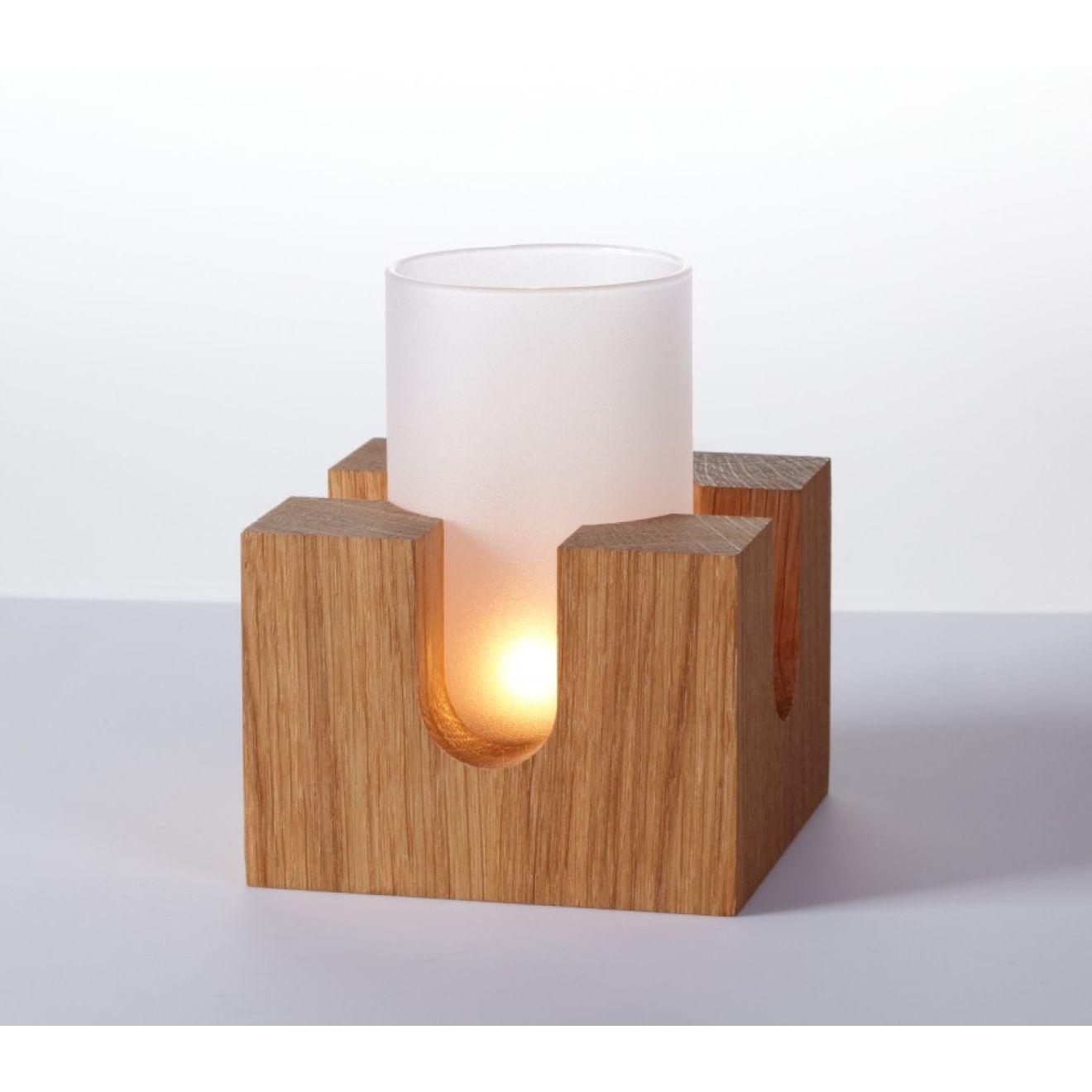 Cubo windlicht st vchen teest vchen aus holz glas for Holz windlicht