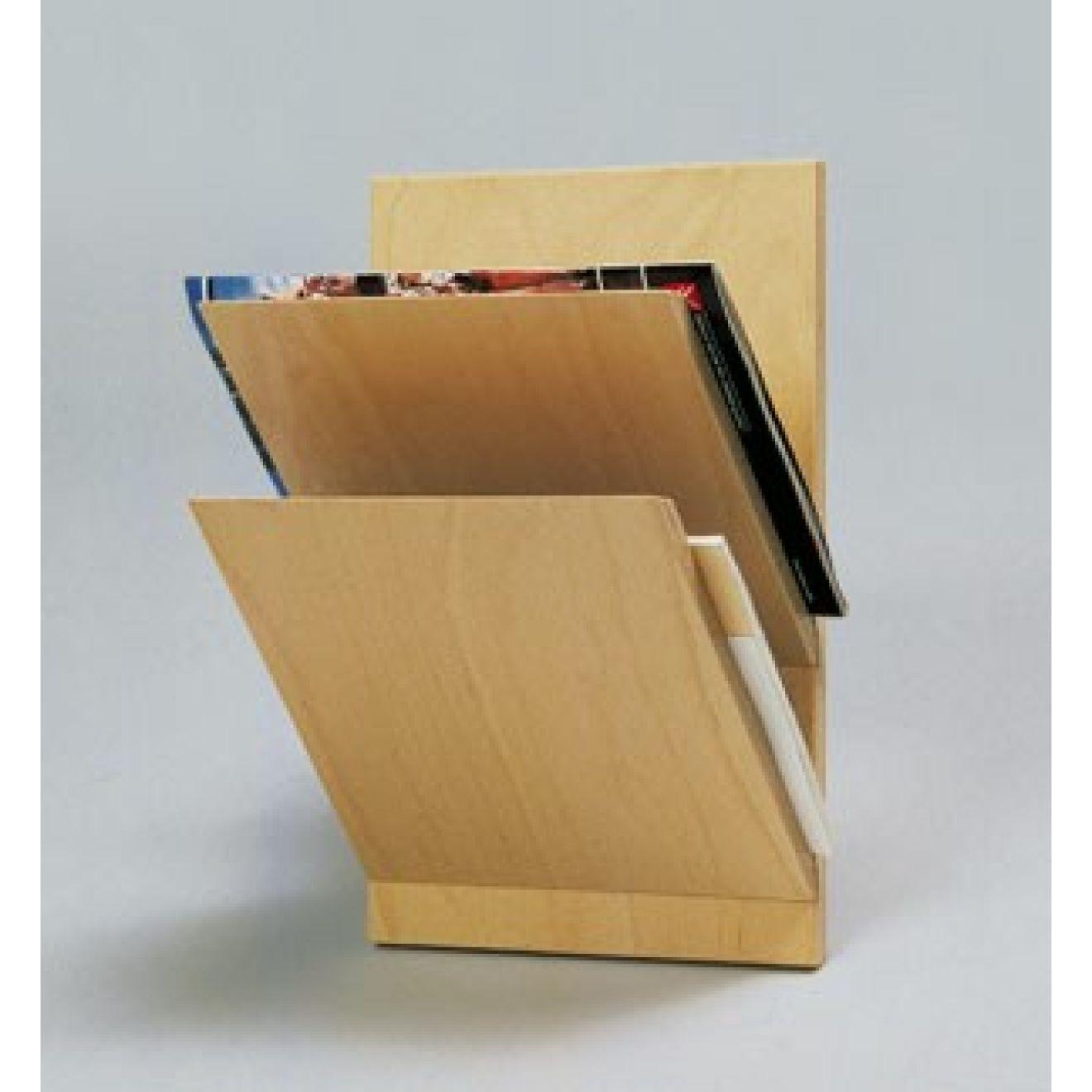 wand zeitschriftenhalter 2 fach aus holz zeitungshalter ohne deko wertprodukte. Black Bedroom Furniture Sets. Home Design Ideas