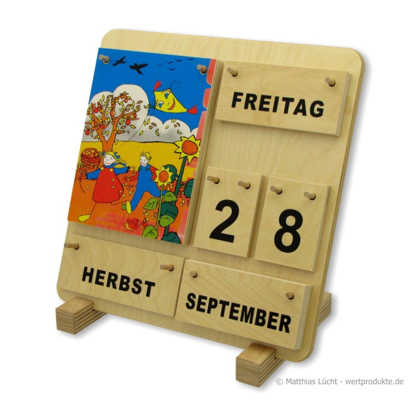 Kalender aus Holz Karl und Kathrinchen