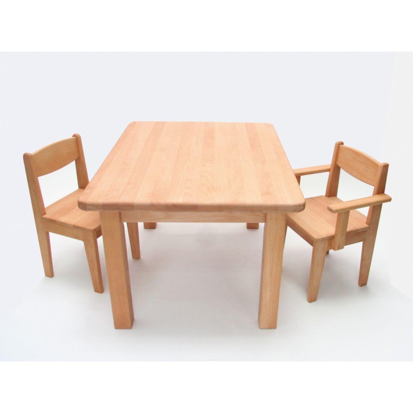 kindertisch holz buche massiv ge lt h he 49 cm kleinkind. Black Bedroom Furniture Sets. Home Design Ideas