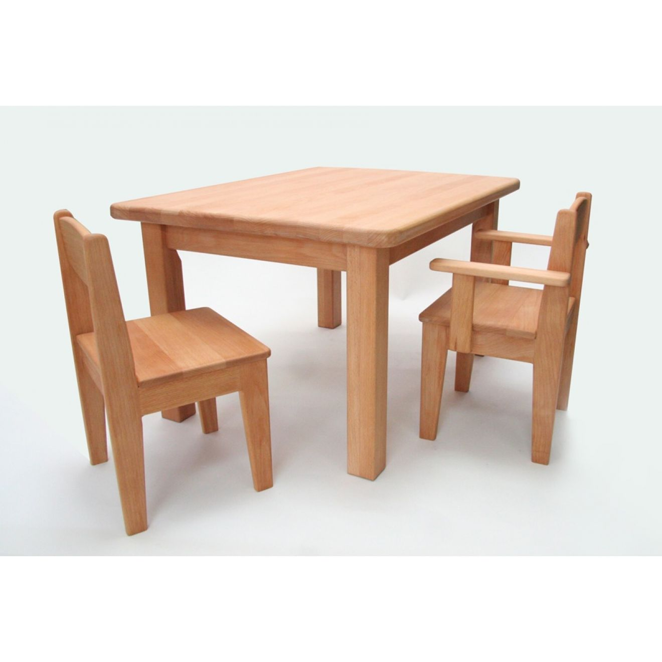 Kinderstuhl Holz Buche geölt Sitzhöhe 26 cm (Tisch ...